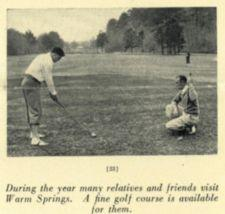 A man is about to hit a golf ball with a driver while another golfer watches.