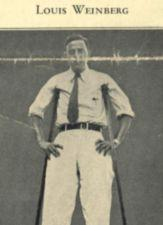 Photograph of a young man standing with crutches.