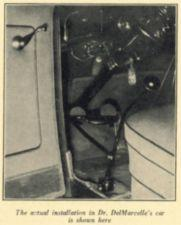 Photograph of a clutch and brake mechanism.