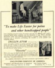 An advertisement for a stair lift and a home elevator.