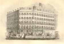 An engraving of the exterior of the American Museum.