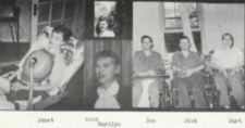 Photographs of six young adults, one with a respirator and three in wheelchairs.