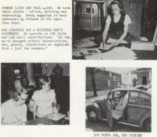 Three photographs, two of children and one of a man getting out of a car.