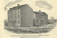 Engraving of a plain-looking building.