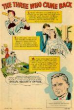 Images summarizing the three stories in the comic book.