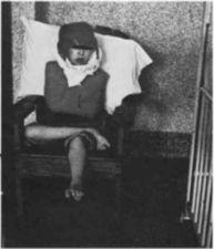 A child retrained in a chair.