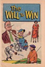 Boy in a wheelchair surrounded by Franklin Roosevelt and  other people with disabilities.