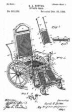 Design drawing for S.A. Potter Invalid Chair, sheet 1.