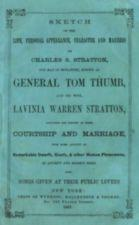 Front cover of pamphlet recounting the lives of Tom Thumb and his wife Lavinia Warren Stratton