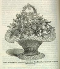 An illustration of a fruit basket received as a wedding gift.