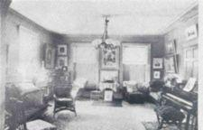 Photograph of the front parlor of the Cogswell House.