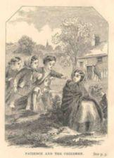 Four children point at a sitting girl.