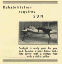 A man suns himself on a cot.