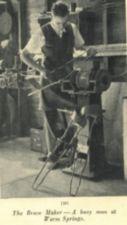 A man works in a shop making leg braces.