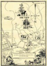 A map of the Warm Springs area with illustrations of activities.