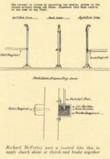 Design drawing of a clutch and brake mechanism.