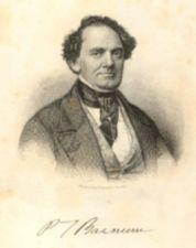 Portrait of P.T. Barnum.