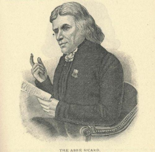 An engraving of the Abbe Sicard.