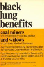 Text poster about how to get black lung benefits.