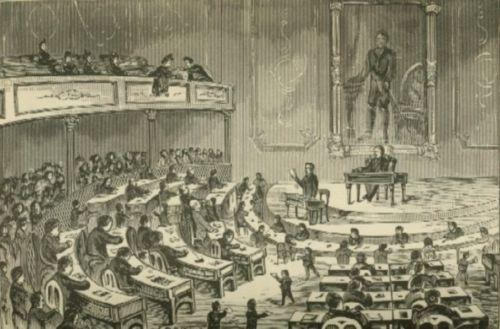 Image of a legislative debate in Illinois.
