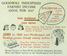 Charts showing income goals for 1947 and what the inccrease would mean for staff and jobs.