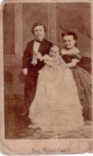 Charles Stratton and Lavinia Warren with a baby.