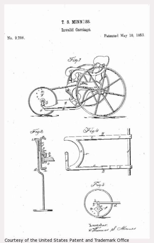 Design drawing of invalid carriage.