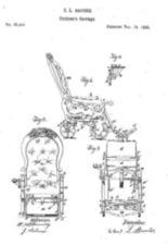 Design drawing for C.L. Bauder Children's Carriage