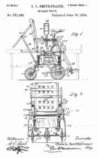 Design drawing for O.L. Smith-Fraser Invalid Chair