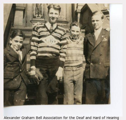 Four male Wright Oral School Students.