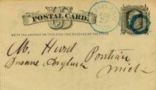 "Handwritten postcard address- ""M. Hurd, Insane Asylum, Pontiac, Mich"""