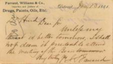 Handwritten Text - Dated January 13, 1881
