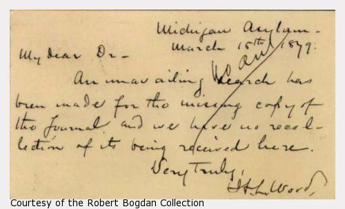 Handwritten Text - Dated March 15, 1879