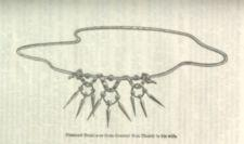 Illustration of diamond necklace that Gen. Tom Thumb gave to his wife.