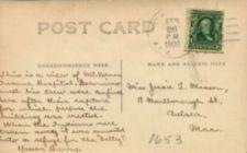 Text of a postcard.