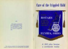Front and back covers of Elyria Rotary Club pamphlet about Gates Hospital for Crippled Children.