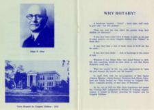"Page 2: Photographs of ""Edgar F. Allen"" and the ""Gates Hospital for Crippled Children - 1915"" Page 3: ""Why the Rotary?"" explains the need for and founding of the Ohio Society for Crippled Children"