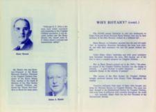 "Page 4:  Photographs and brief bios of Harry Howett and James A. Hewitt who were both active in ""Crippled Children movement"" Page 5: Continues the story of the Rotary Club's work on behalf of Crippled Children."