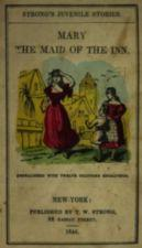 Cover of pamphlet with colored picture of Mary with two onlookers.