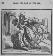 Mary flees, carrying a hat.